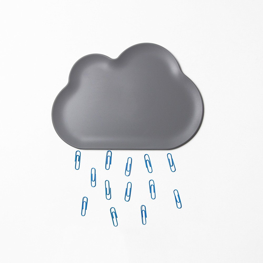 QUALY 朵朵雲兒置物盤 (深灰)