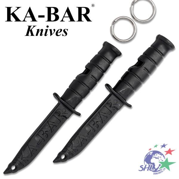 KA-BAR 經典軍刀造型求生哨 / 一組兩入 / 附鑰匙圈 / 9925【詮國】
