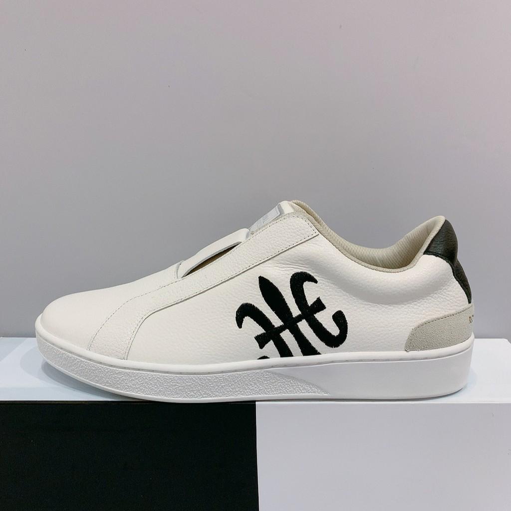 Royal 男生 白色 鬆緊鞋帶 舒適 皮革 休閒鞋 01702009