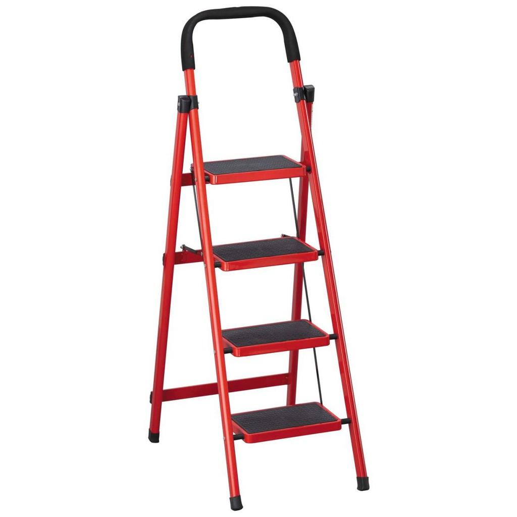 【SA415-7】 烤漆四層步梯(紅/黑)