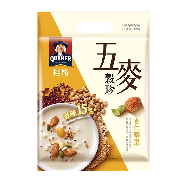 桂格五麥穀珍-杏仁堅果  【大潤發】