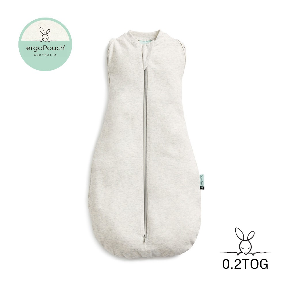 澳洲ergoPouch二合一舒眠包巾 0.2TOG有機棉 亞麻灰