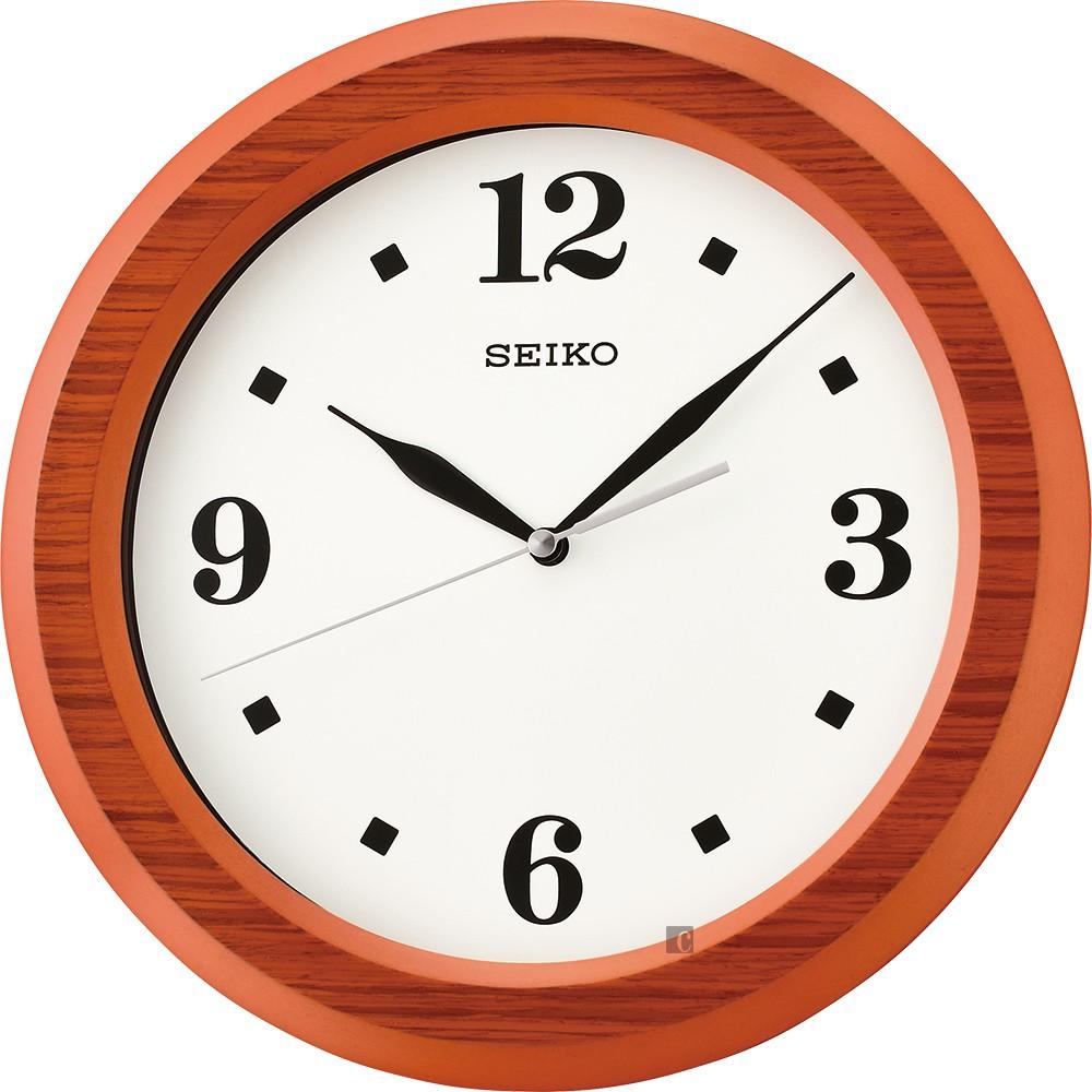 SEIKO 精工 木質滑動式秒針靜音掛鐘 QXA772E