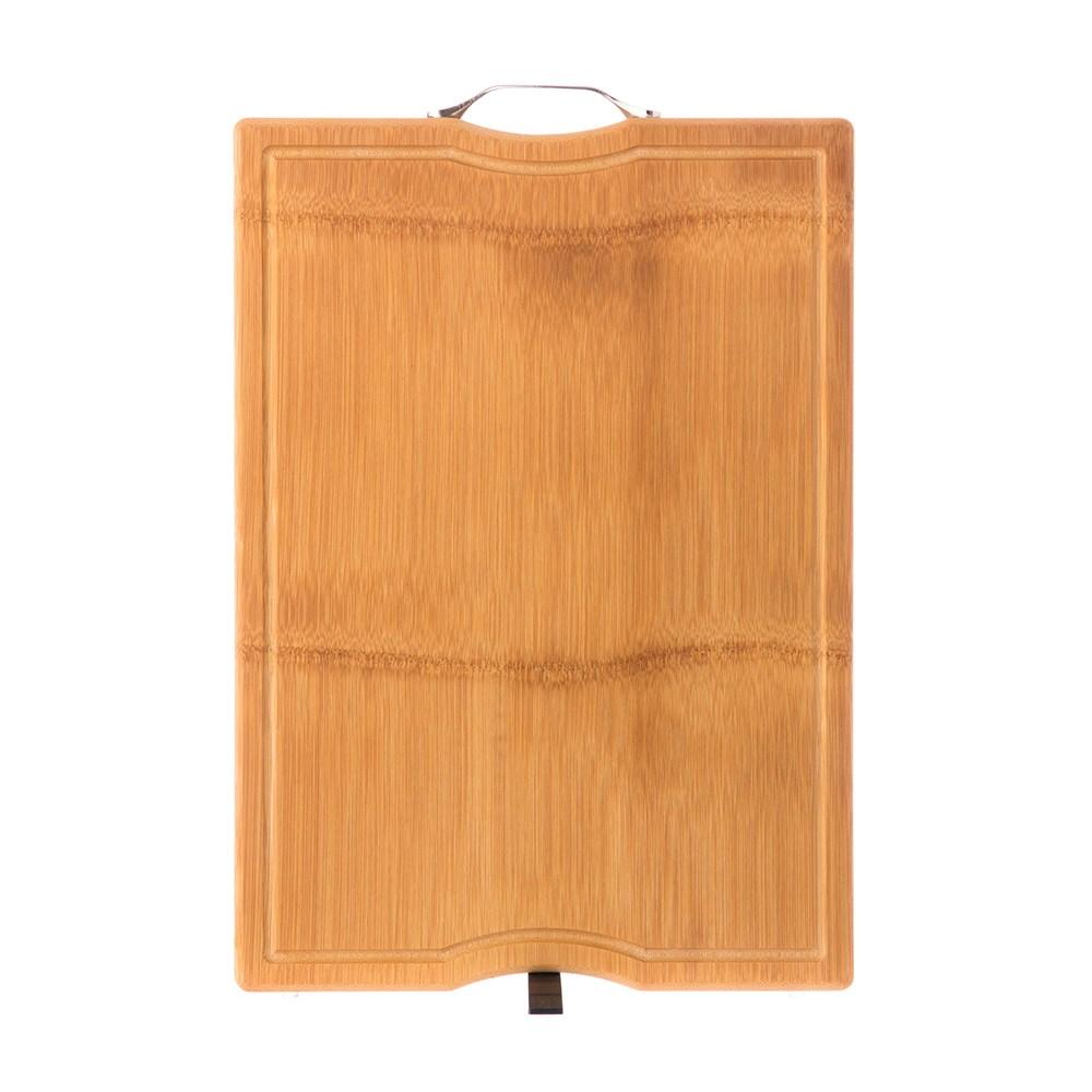 HOLA 可立式一片竹溝槽砧板(45x32cm)