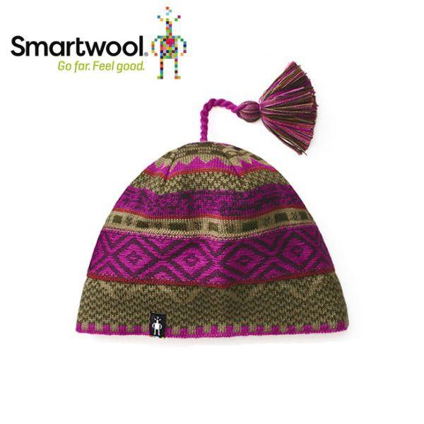 【美國 SmartWool 夢幻仙境小圓帽 《紫莓/綠》】SW010436/保暖針織帽/毛線帽/羊毛帽/悠遊山水