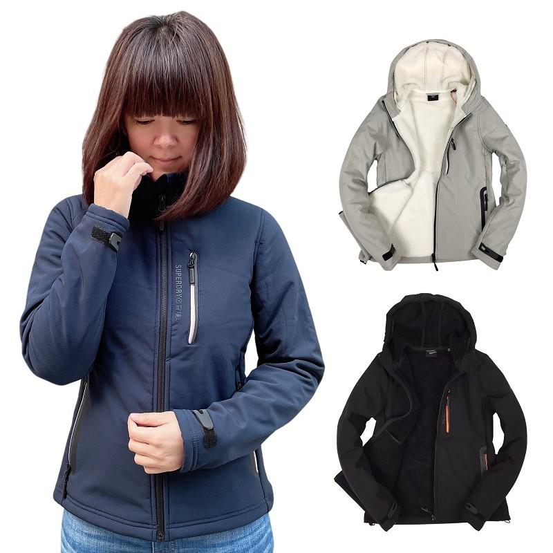 免運 現貨 Superdry 極度乾燥 女裝 刷毛 羊羔毛 外套 連帽 拉鍊 夾克 防風 防潑水防水 正品