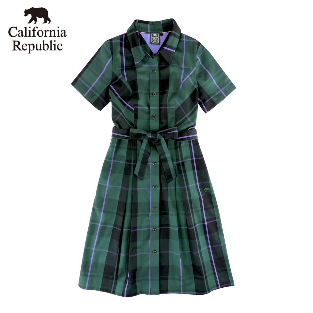 CALIFORNIA|經典格綁帶洋裝(女)