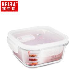 【RELEA物生物】800ml正方形耐熱玻璃微波保鮮盒
