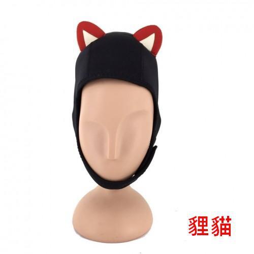 Scuba YD 卡通造型 貍貓/貓耳 潛水頭套 保暖 高辨識度