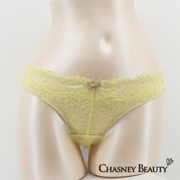 Chasney Beauty愛的告白蕾絲丁褲S-XL(蛋黃)