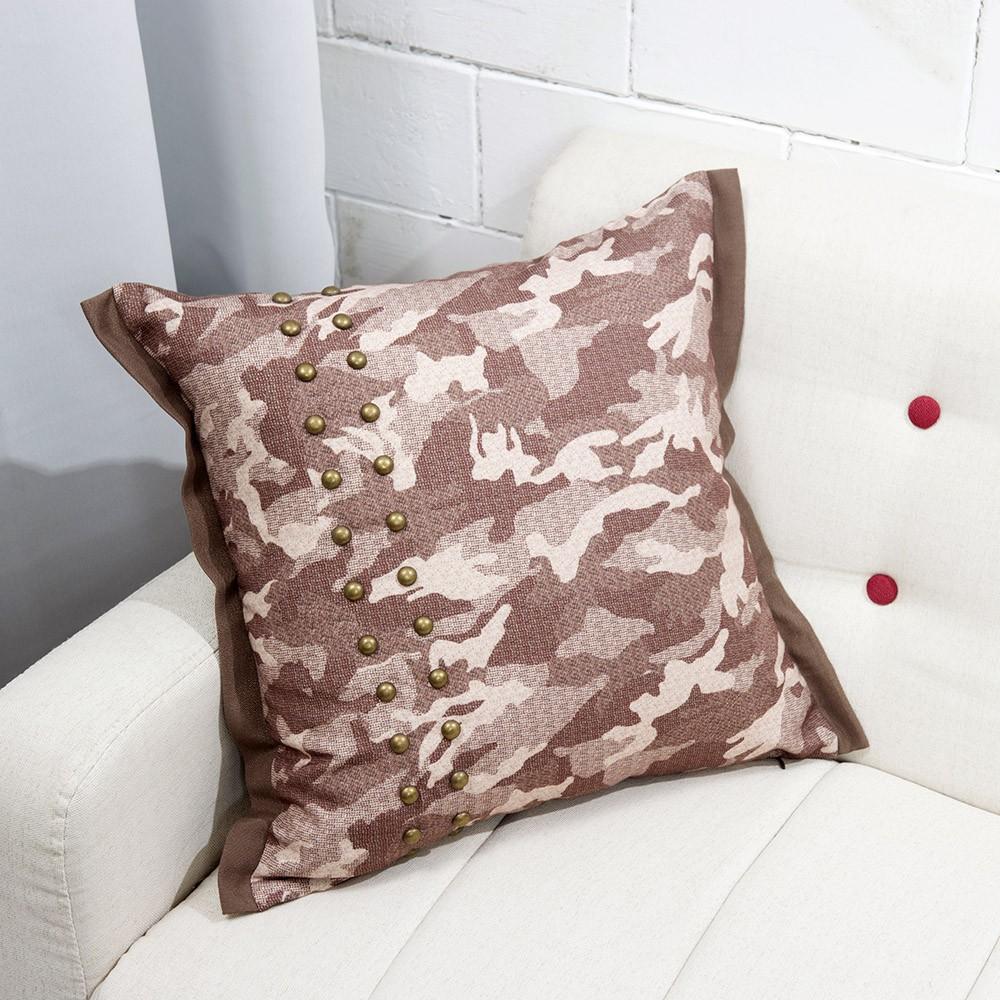 【生活工場】迷彩銅扣抱枕套45x45