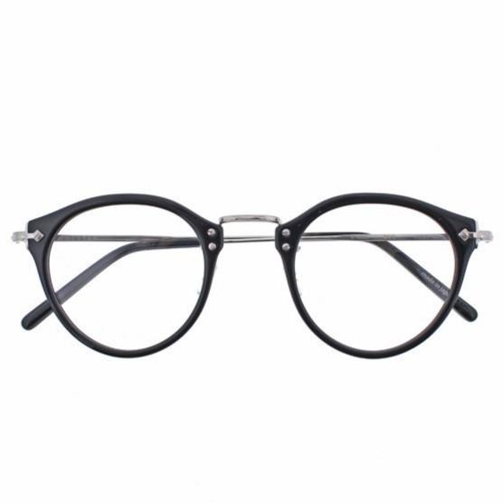 EYEVAN 光學眼鏡 E 0505 BK/S (黑/銀) 復古 鏡框 日本手工【原作眼鏡】