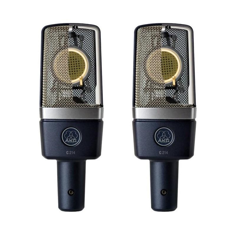AKG C214 Pair 經典電容式配對麥克風組/與C414齊名((附兩條Pro Co 5米線)含稅保固【音響世界】
