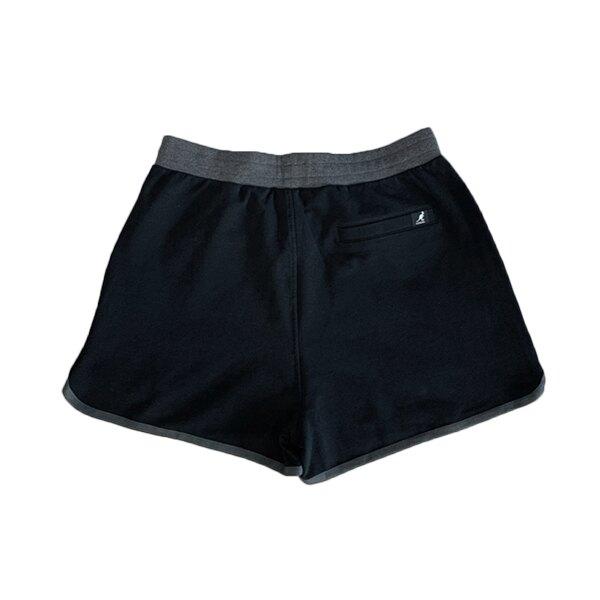 【滿額領券折$150】KANGOL 英國袋鼠 短褲 運動短褲 包邊 草寫LOGO 黑色 女生【6122150220】