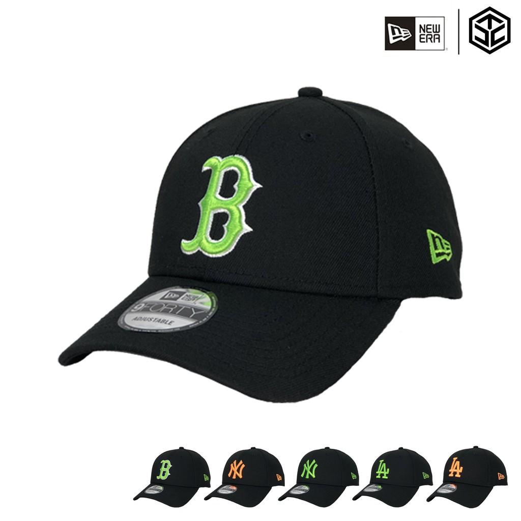 NEW ERA 9FORTY 940 洋基 道奇 紅襪 螢光色系 棒球帽 老帽 百搭款 熱賣帽款【TCC】