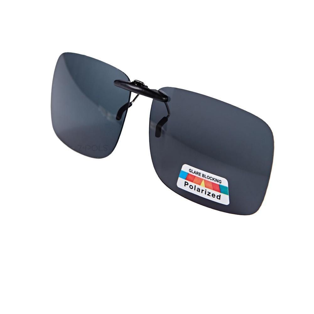 【視鼎Z-POLS】新型夾式加大型 黑色款設計頂級遮陽偏光鏡 抗UV400 超輕 近視族必備!