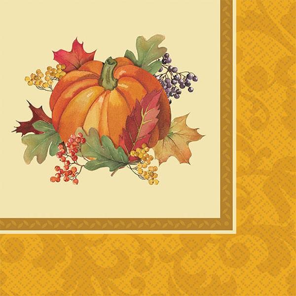 派對城 現貨 【紙巾16入-豐收佳節】 歐美派對 餐具 紙杯 紙盤 派對用品 派對餐具 感恩節 派對佈置 拍攝道具