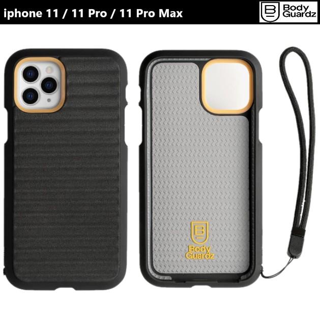 BodyGuardz iPhone 11 Pro Max Momentum 抗衝擊曲線軍規殼  黑 吊繩