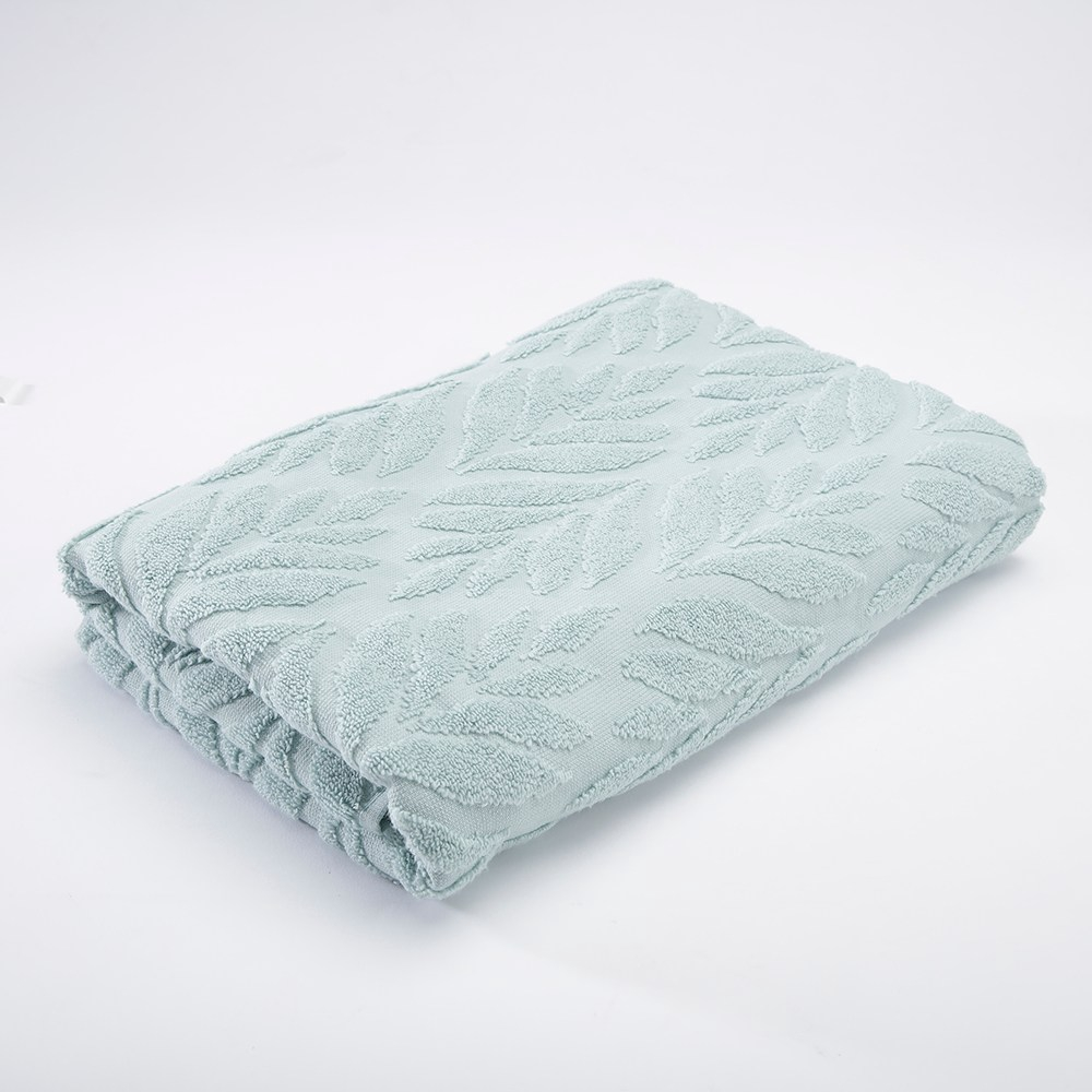 HOLA 葡萄牙純棉浴巾 葉影綠70x140cm