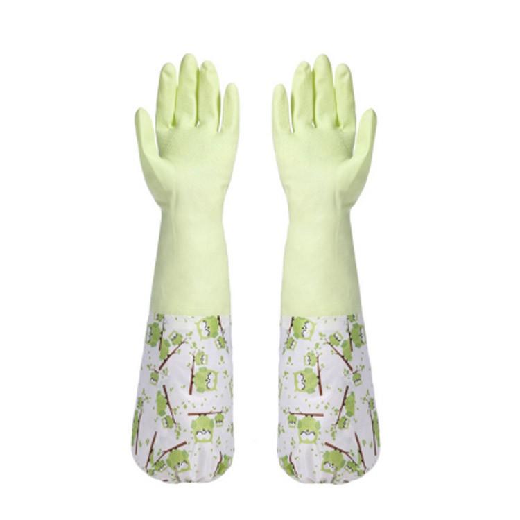 束口加絨保暖橡膠洗碗手套 家事手套 (不挑色) JA3021
