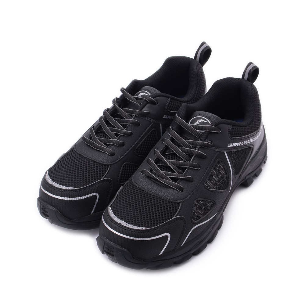 GOODYEAR 極光綁帶鋼頭安全鞋 黑 GAMX03960 男鞋