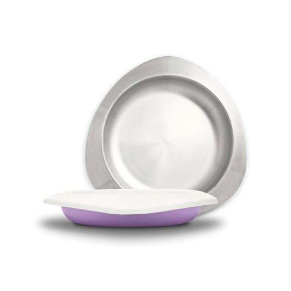 台灣 VIIDA Soufflé 抗菌不鏽鋼餐盤(薰衣草紫)【麗兒采家】