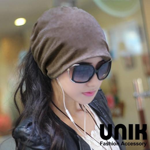 【現貨】 UNIK 氣質兩用素面毛線帽(品味咖)