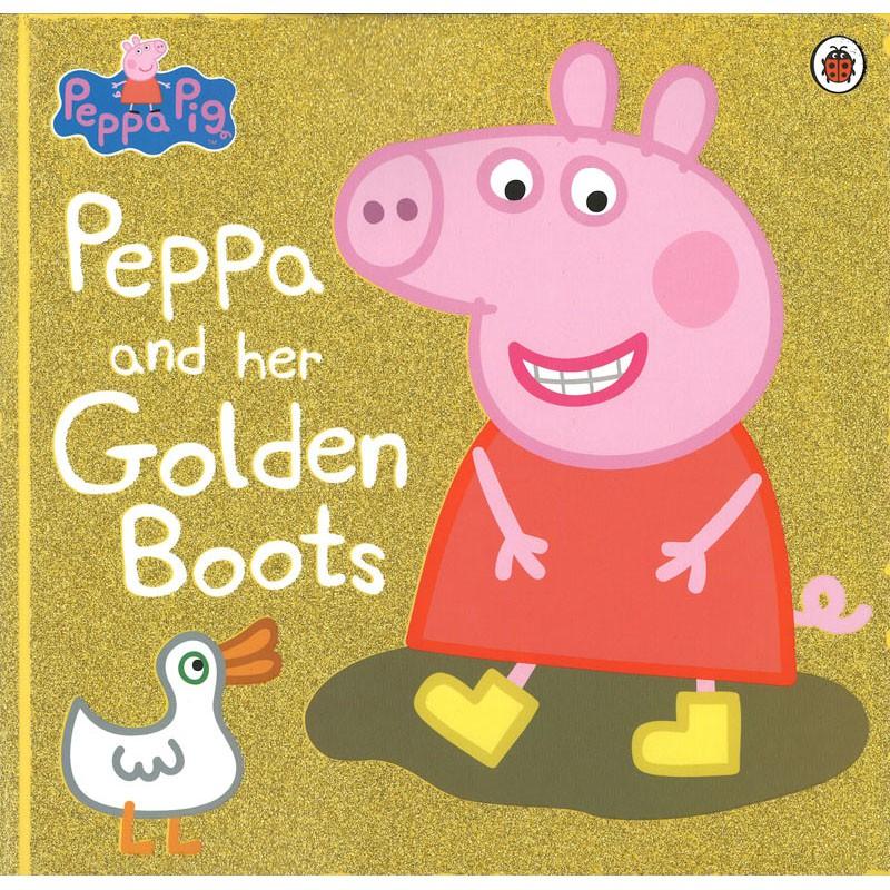 【麥克書店】PEPPA PIG AND HER GOLDEN BOOTS|粉紅豬小妹佩佩豬小豬佩奇英文故事書繪本