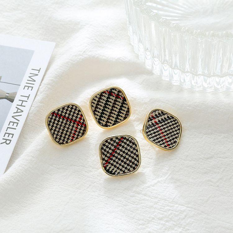 【台韓家】 簡單布藝 S925銀針韓風耳環 「台灣現貨」