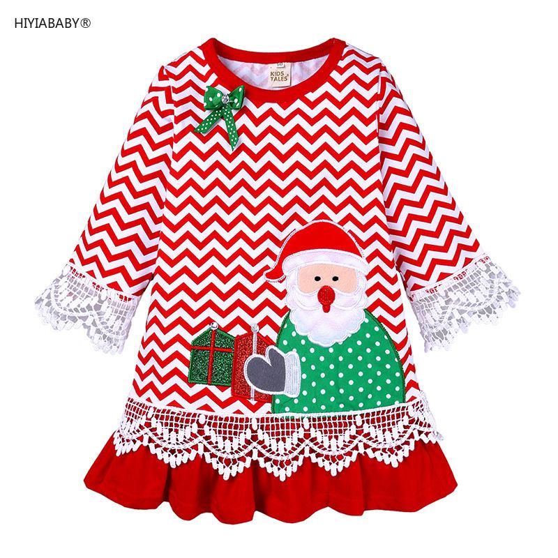 新款女童聖誕老人綉花連衣裙