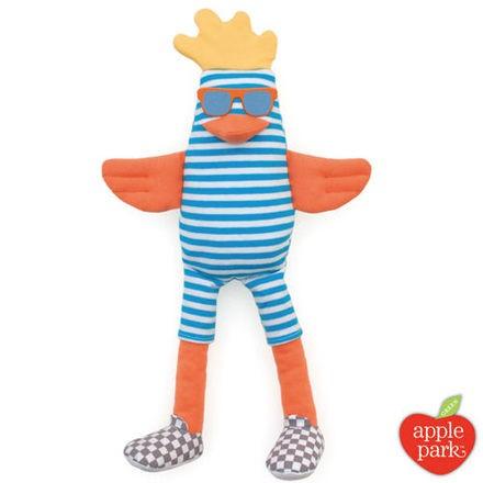 美國 Apple Park【農場好朋友系列】有機棉安撫玩偶-衝浪酷雞【佳兒園婦幼館】
