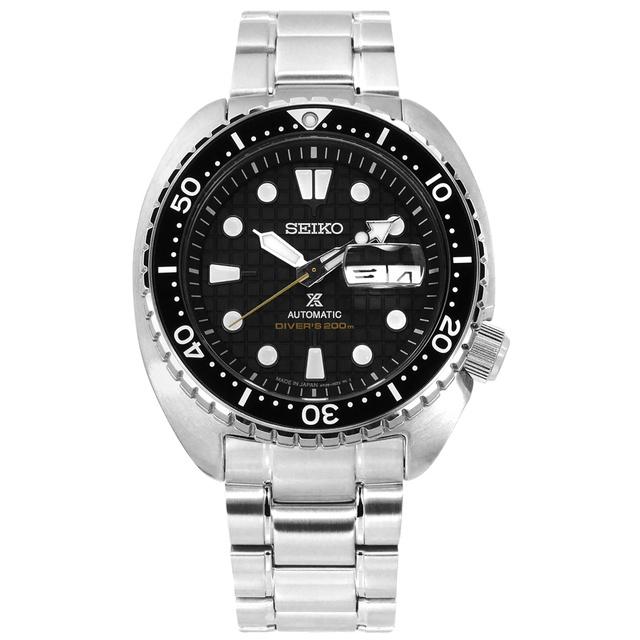 SEIKO 精工/PROSPEX 潛水錶 機械錶 陶瓷錶圈 不鏽鋼手錶 黑色/4R36-06Z0D/45mm 廠商直送