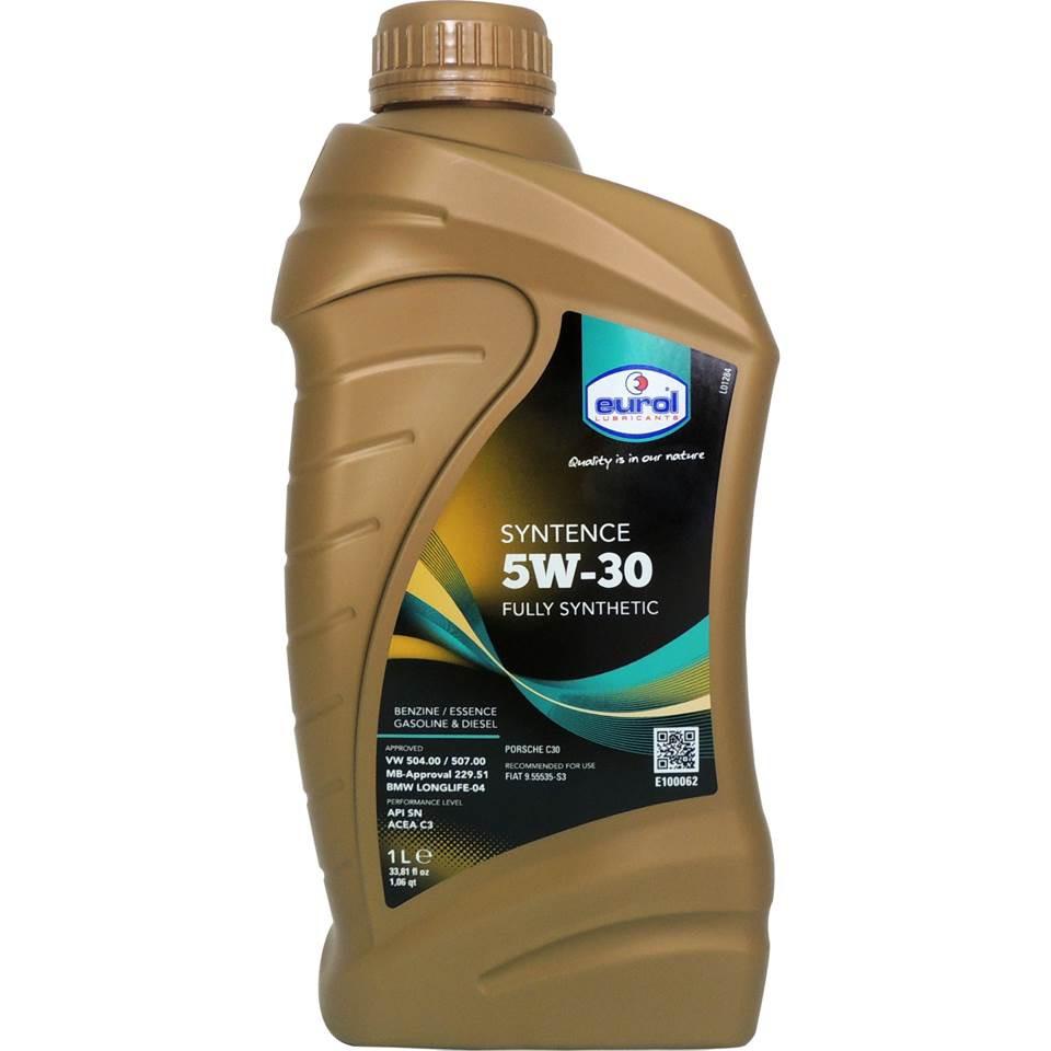 【五折加價購】Eurol Syntence 5W-30 全合成汽柴油引擎機油 專用於福斯集團車款 平行輸入