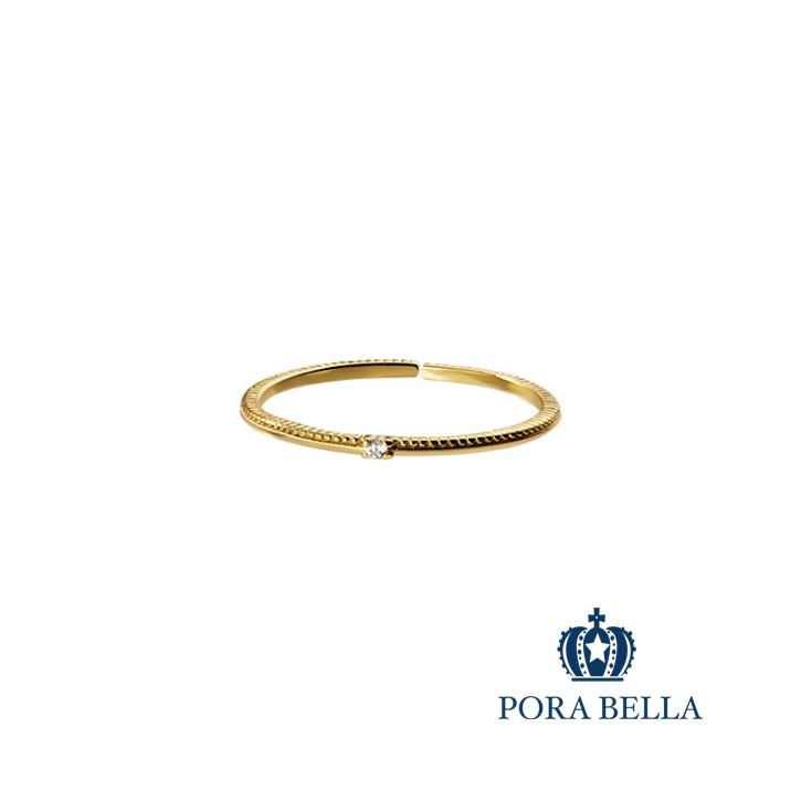 Porabella925純銀鋯石戒指 宴會禮服必搭 可調開口式 銀戒 Rings VIP尊榮包裝1件免運