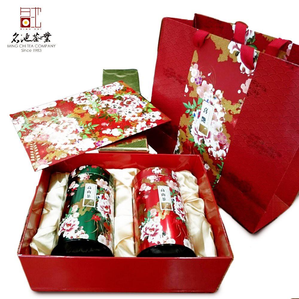 【名池茶業】喜慶新春艷茶禮-阿里山新茶(喜艷禮盒)(150g x2)