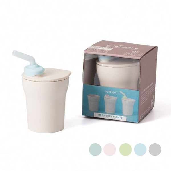 Miniware 天然聚乳酸兒童學習餐具 愛喝水水杯組 (5款可選)【麗兒采家】【滿2千贈矽膠圍兜】