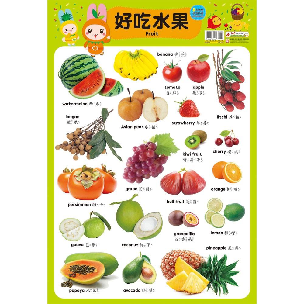 【幼福】忍者兔學習掛圖【好吃水果】-168幼福童書網