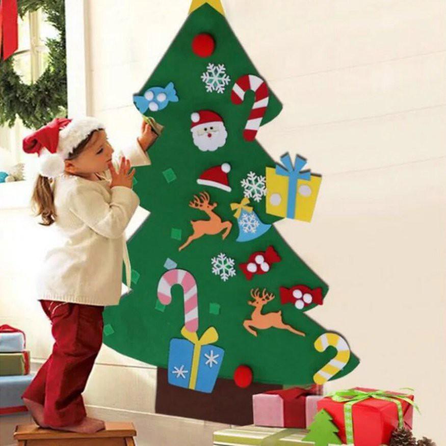 【歐美爆款】超大聖誕樹 Diy毛氈聖誕樹 新年禮物 兒童益智手工 兒童玩具人造樹 壁掛飾品 聖誕節裝飾傢居 潮可