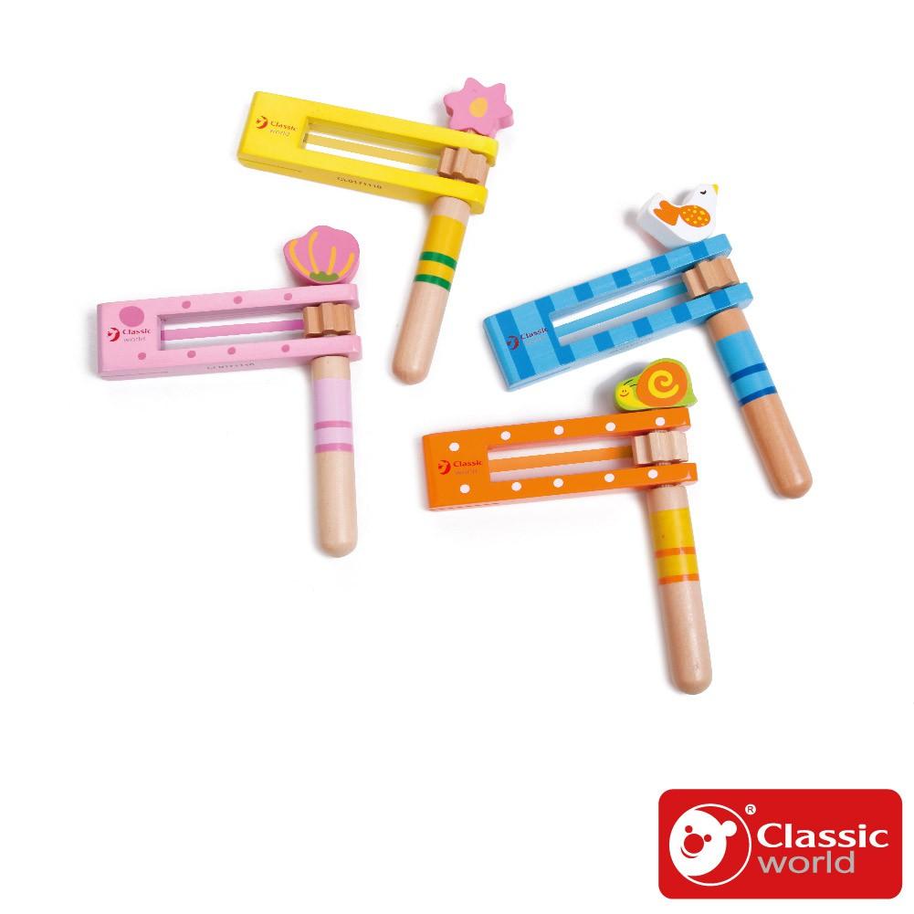 《德國Classic world》木製兒童趣味音樂遊戲(隨機色)【音樂啟發_3歲以上】客來喜經典木玩具-官方直營