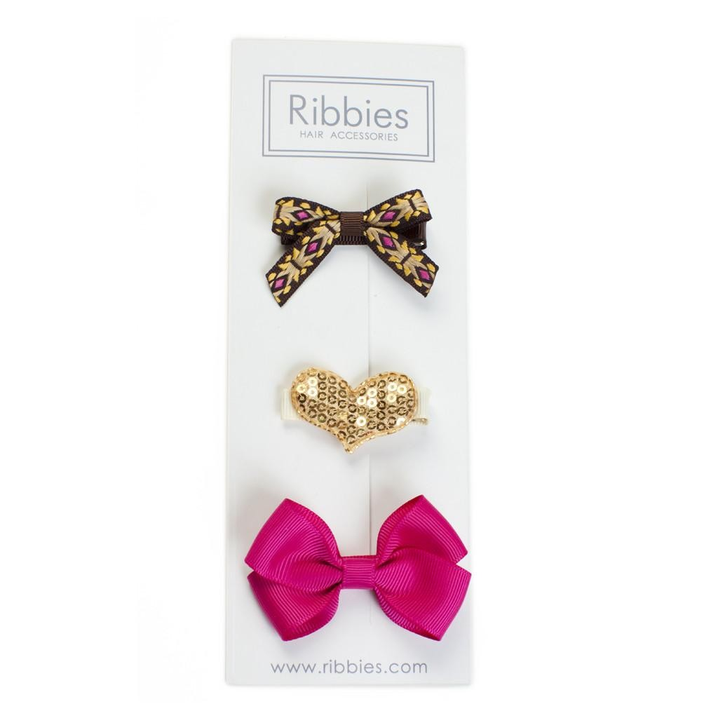 美國 Ribbies Clippies 彌月禮 綜合3入組 Amarra