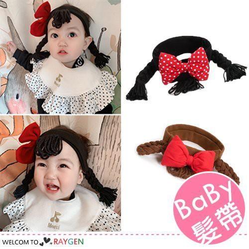 韓版女寶寶蝴蝶結假髮頭飾 髮帶