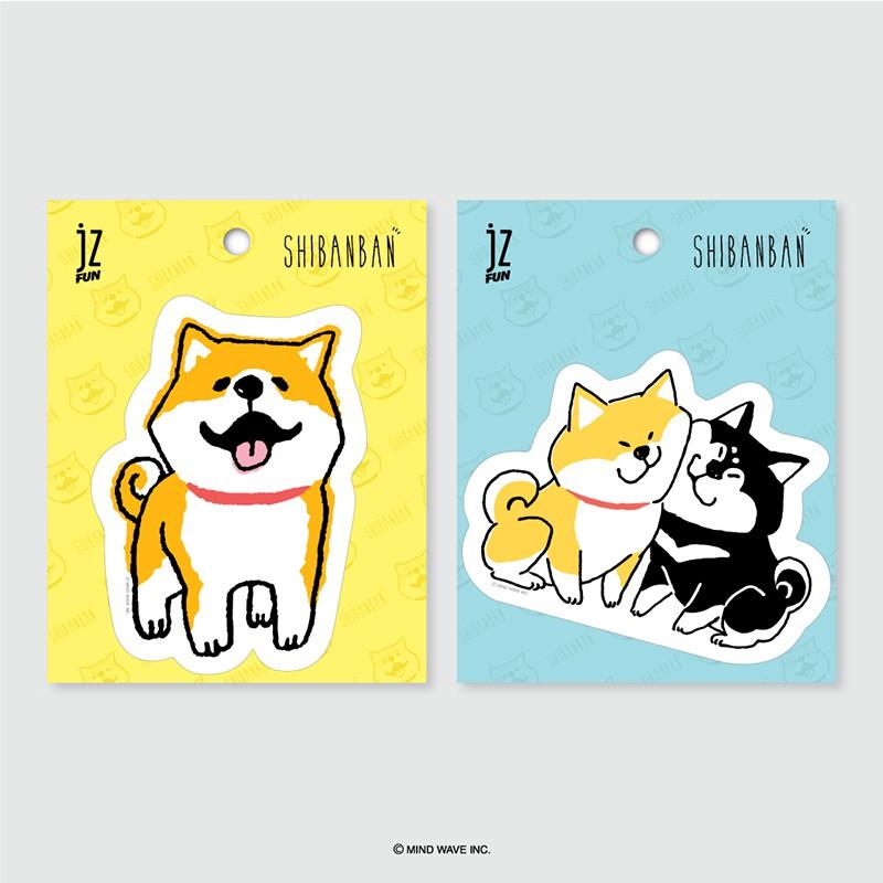 微笑柴犬 防水萬用貼紙【久大文具】