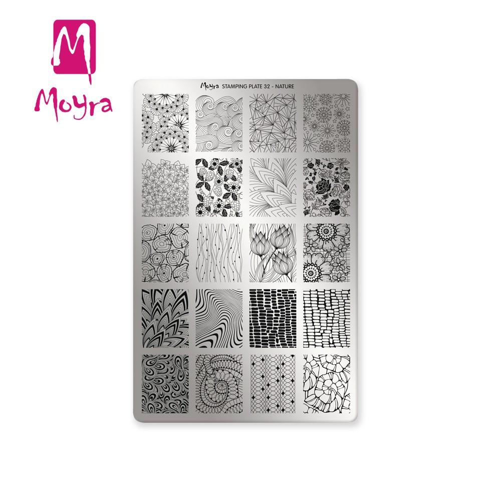 Moyra匈牙利美甲  指彩印花鋼板  轉印鋼板  32靜心自然NATURE