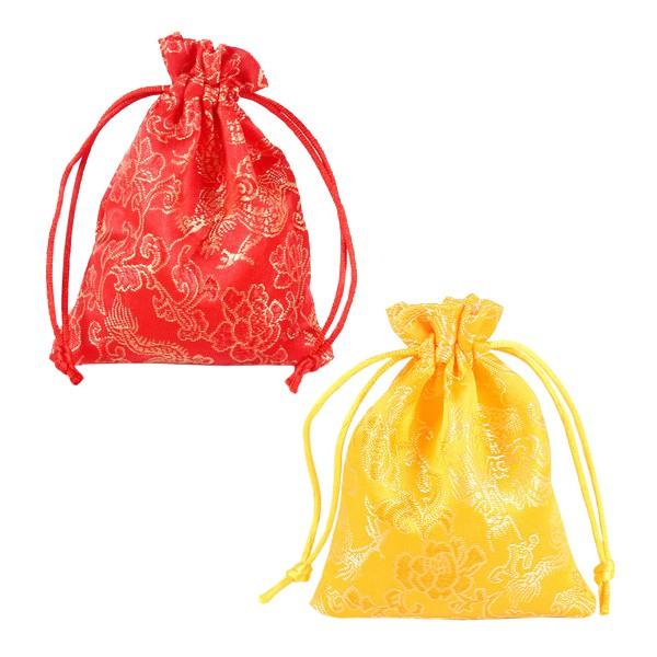 5384 錦緞龍紋束口袋 抽繩喜糖袋 首飾禮物包 車用香包袋 禮品包裝袋
