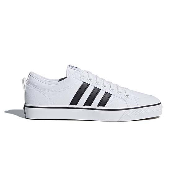 【ADIDAS】愛迪達 NIZZA  休閒鞋 滑板鞋 基本款 白 男女鞋 -CQ2333