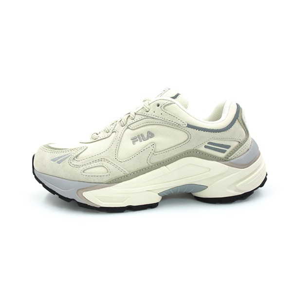FILA 復古慢跑鞋 麂皮 增高 厚底 米白灰色 女生尺寸 【4C352V069】