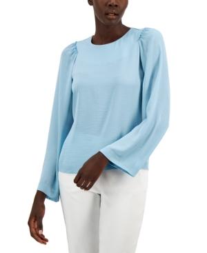Alfani Wide Pleated-Sleeve Blouse, Created for Macy's