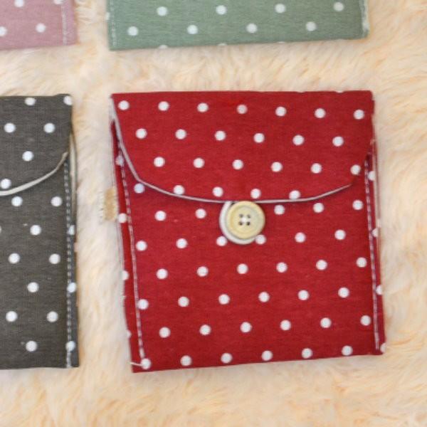 圓點紙巾包 清新波點紙巾包 化妝收納包 衛生棉包 零錢包收納袋【DH337】