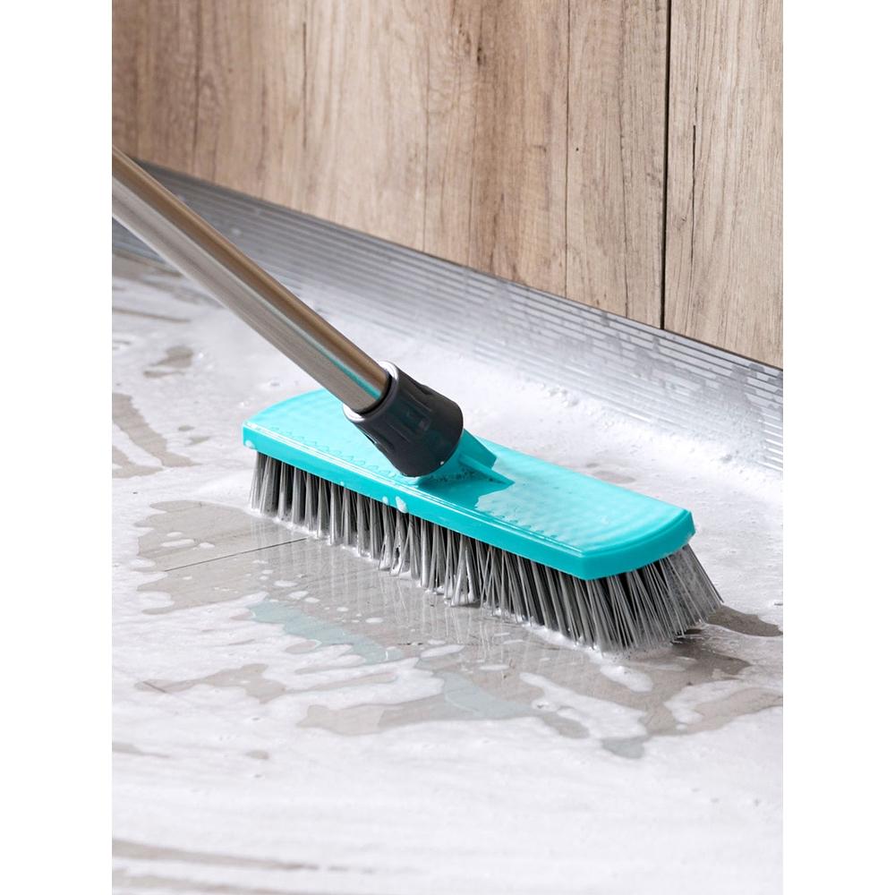 居家家 加寬長柄浴室刷子硬毛瓷磚地磚刷 地板刷衛生間地板清潔刷長柄鋼絲刷子家用地板刷硬毛縫隙刷 衛生間地刷擦玻璃刷子牆面
