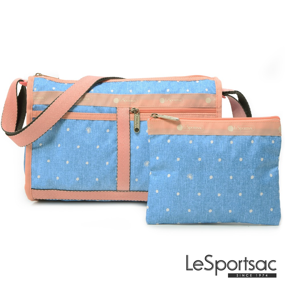 LeSportsac - Standard雙口袋斜背包-附化妝包 (牛仔點點) 7519P F678